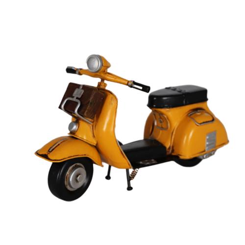 تحفة أنتيكة دراجة نارية لون أصفر طراز قديم للديكور المنزلي والمكتبي