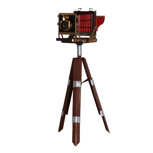 تحفة أنتيكة الكاميرا المرتفعة طراز قديم للديكور المنزلي والمكتبي