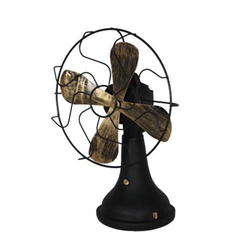 تحفة أنتيكة شكل المروحة لون أسود طراز قديم للديكور المنزلي والمكتبي