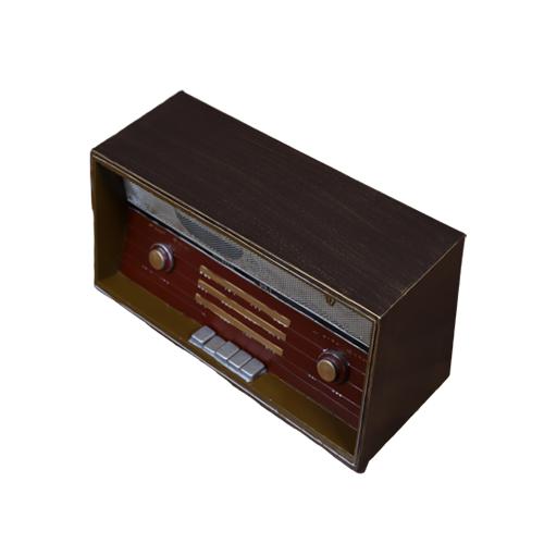 تحفة أنتيكة الراديو3 لون بني طراز قديم للديكور المنزلي والمكتبي
