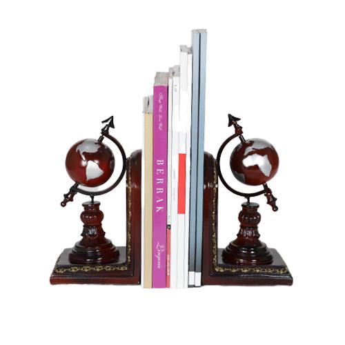 أرفف الكتب من دفتين موديل جلوب بلاك جولد لترتيب الكتب بديكور جميل