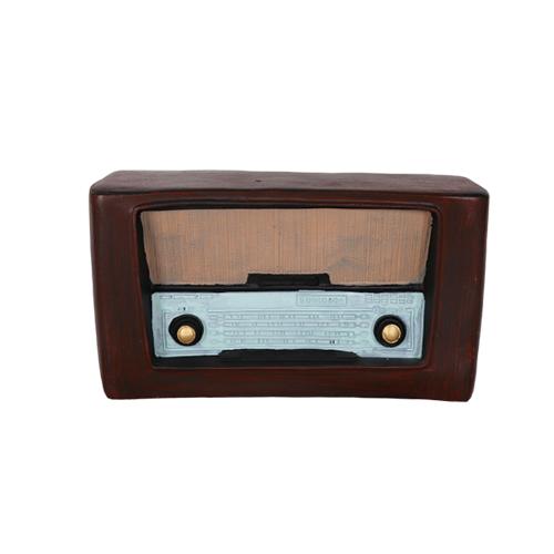 تحفة أنتيكة الراديو لون بني طراز قديم للديكور المنزلي والمكتبي