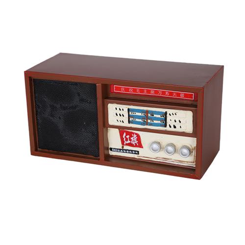 تحفة أنتيكة الراديو1 لون بني طراز قديم للديكور المنزلي والمكتبي