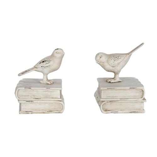 أرفف الكتب من دفتين شكل الطائر لترتيب الكتب بديكور جميل