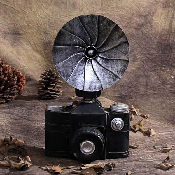 تحفة أنتيكة الكاميرا السوداء طراز قديم للديكور المنزلي والمكتبي