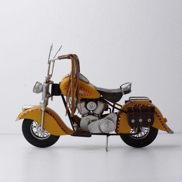 تحفة أنتيكة دراجة نارية جميلة طراز قديم للديكور المنزلي والمكتبي