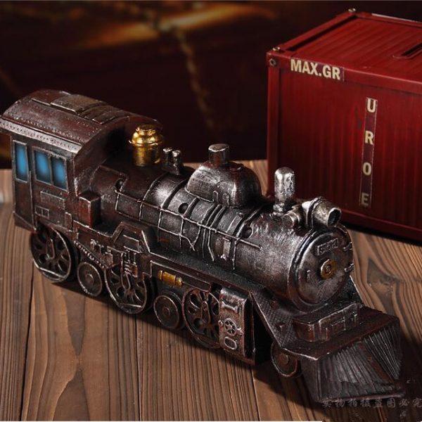 تحفة أنتيكة القطار البخاري موديل ستيم طراز قديم للديكور المنزلي والمكتبي
