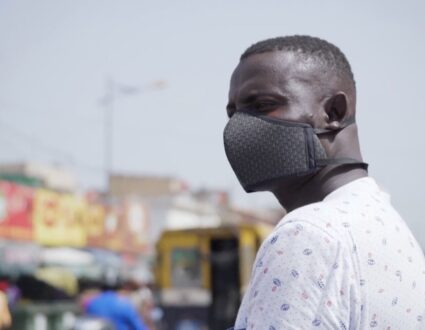 Senegalese Man wears mask