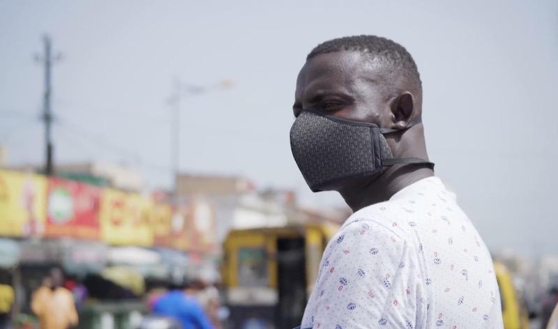 Senegalese Man wears mask