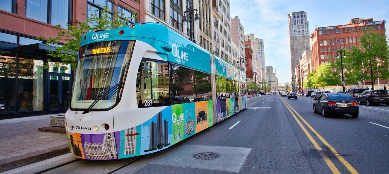 Streetcar on Woodward Avenue