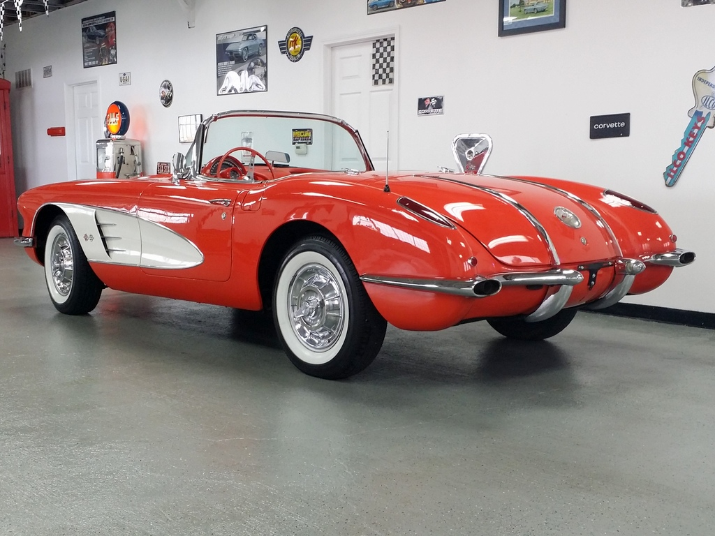 1958 Corvette Signet Red Red Powerglide Vintage Vettes