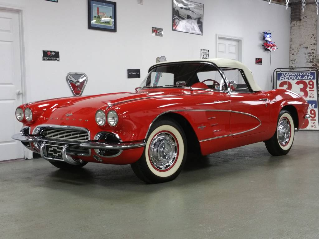 1961 corvette cv roman red  red 315hp fi  u0026quot bb u0026quot  --mecum houston april 15th