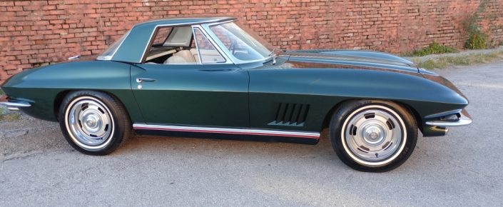 1967 Corvette CV  Goodwood Green/white