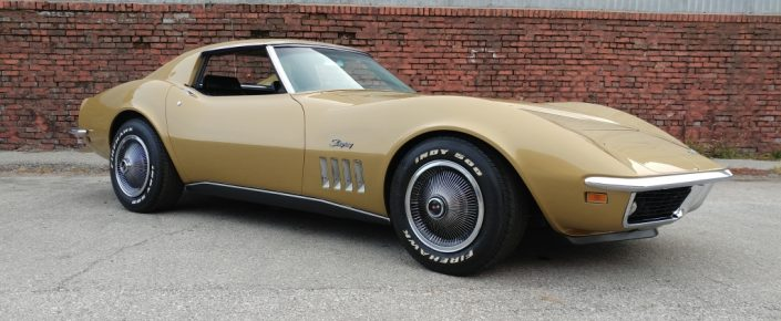 1969 Chevrolet Corvette Coupe Riverside Gold/Black SOLD !!