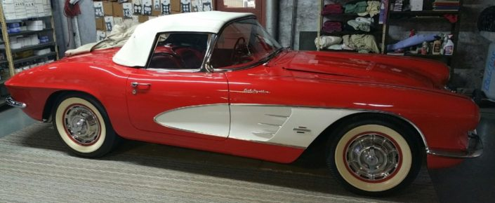 1961 Corvette Roman Red/Red  315hp Fuel Injected