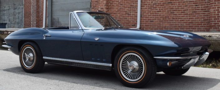 1966 Corvette  Laguna Blue/Black L79  with factory AC