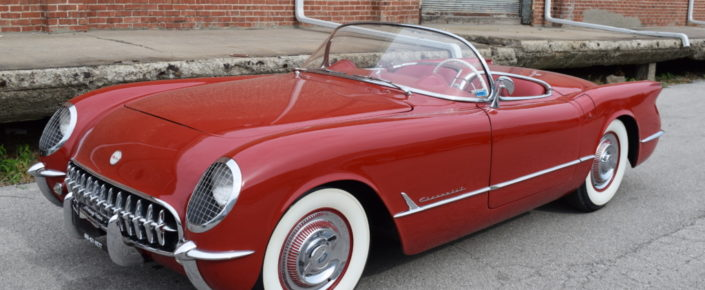 1954 Chevrolet Corvette Sportsman Red with Red Interior