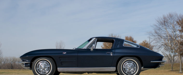 "1963 Chevrolet Corvette SWC – Daytona Blue/Dark Blue   ""SOLD"""