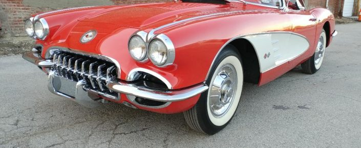 1958 Chevrolet Corvette – Red/Red   Headed to Mecum Auction in Houston