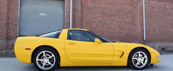 2003 Corvette  Competition Yellow/black Coupe  6 spd. SOLD !!