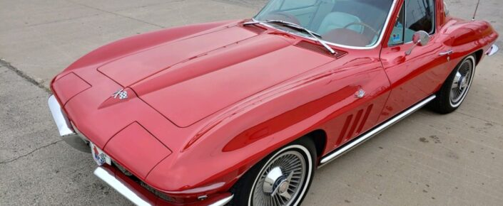 """1965 Corvette Coupe Rally Red/white  AT (all options) TF  """"Pending Sale"""""""
