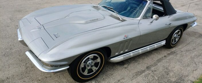 "1966 Corvette CV Silver Pearl/dark blue 427/390. ""SOLD"""