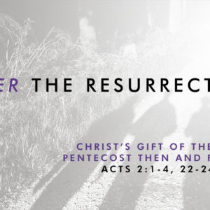 Christ's Gift of the Spirit: Pentecost Then and Forever (May 31)