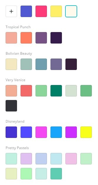Canva Pro Color Palettes for Brands When Making Pins