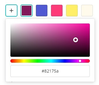 how to choose a color in Canva for your text or graphic
