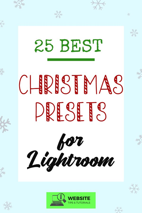 Check out our list of the best Christmas presets for Lightroom! These desktop & mobile Lightroom presets are perfect for adding that special holiday touch to your photos. This is great for Christmas-themed blog entries, instagram posts, Pinterest pins and more!