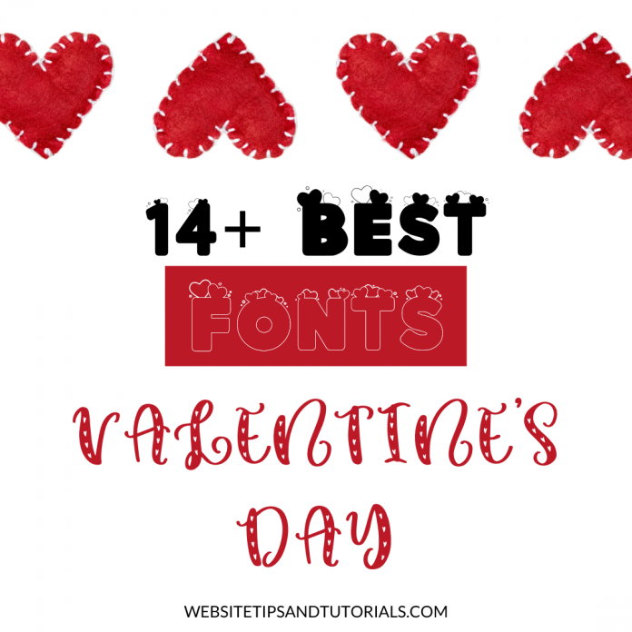 best Valentine's Day fonts for bloggers, social media managers, influencers
