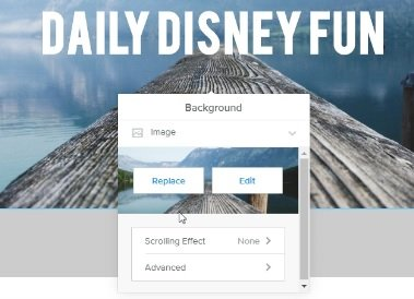 how to replace the background image on a Weebly website