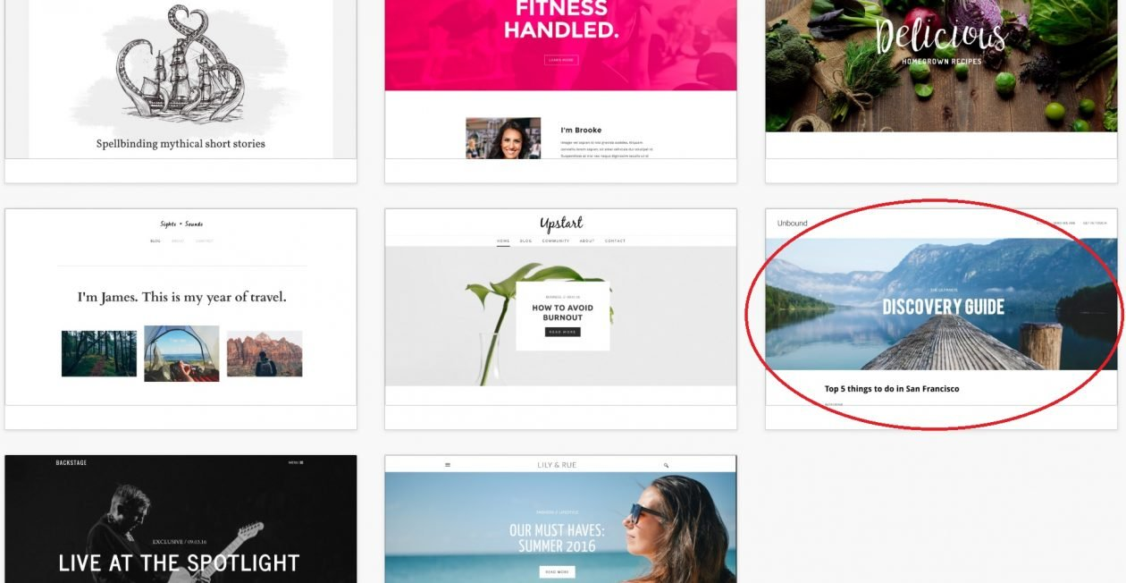 Weebly theme options for new free website