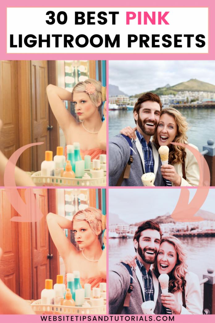 best pink lightroom desktop & mobile presets