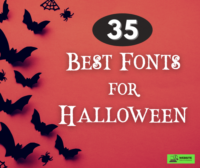 35 best fonts for Halloween graphic design