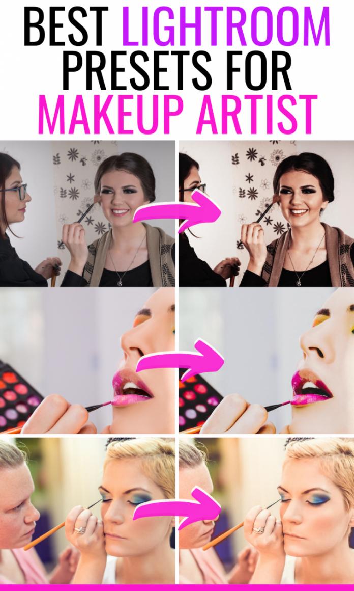 best lightroom presets for makeup artist photography