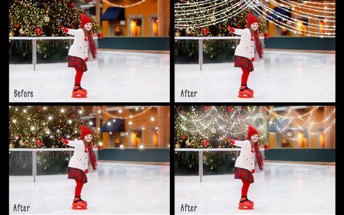 best Christmas overlays for Photoshop holiday image editing
