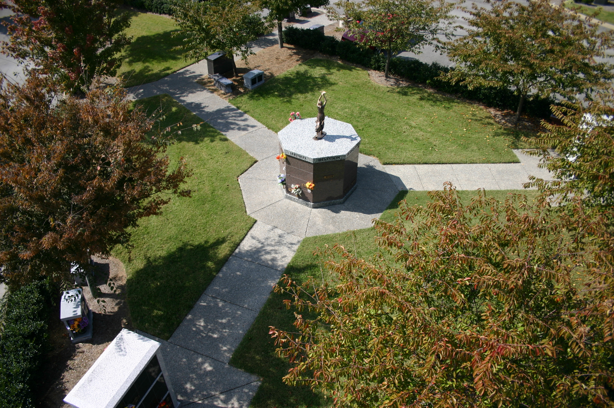 Aerial view of The Cremation Gardens