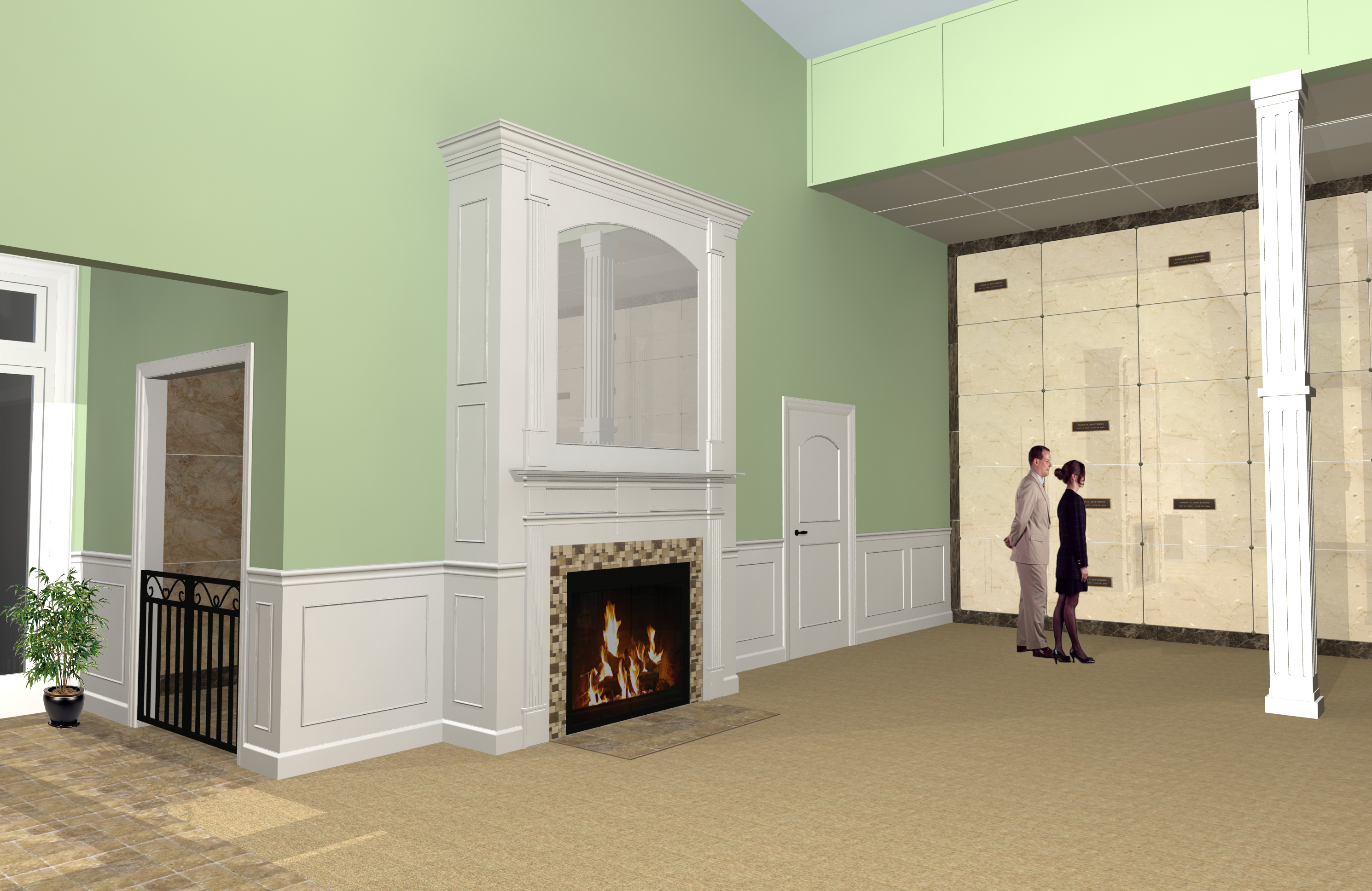 Interior Fireplace & Family Room