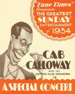 1934 Cab Calloway Concert Flyer
