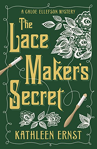 Cover for The Lacemaker's Secret features bobbins and intricate Belgian lace