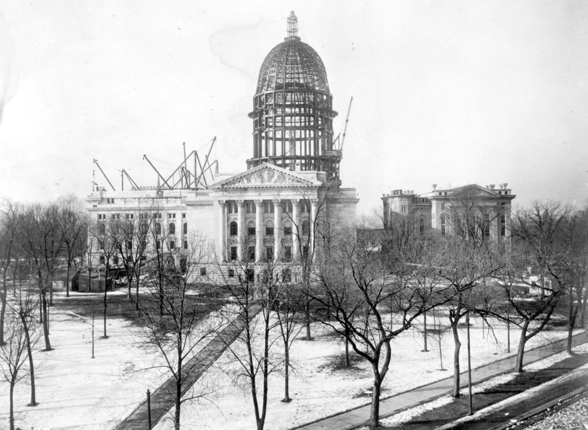 The Wisconsin Capitol, under construction prior to 1917