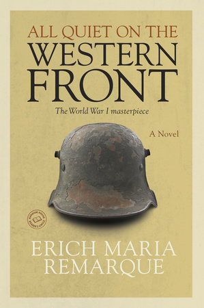 All Quiet on the Western Front cover shows a battered metal WWI army helmet