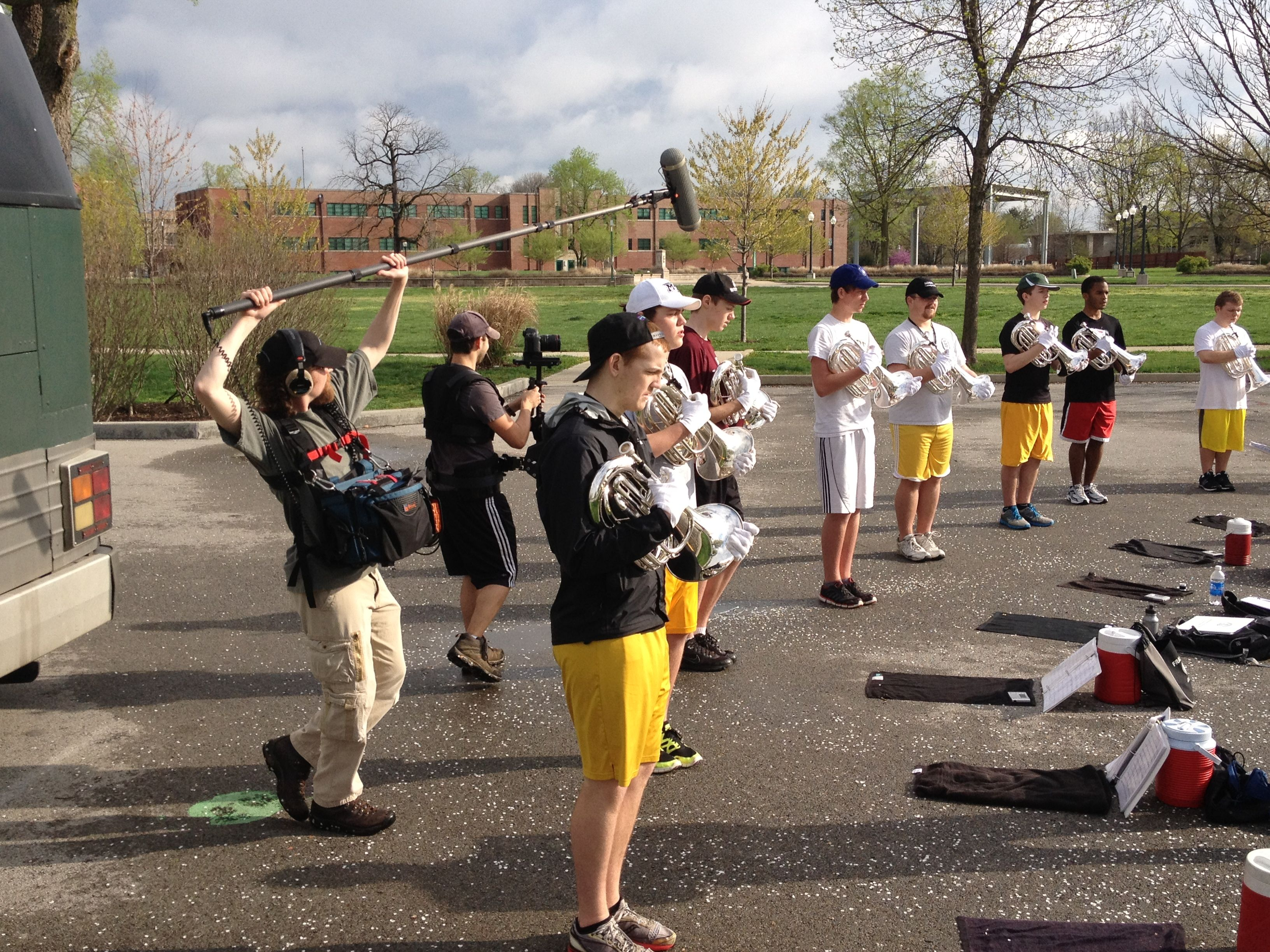 April rehearsal with baritones
