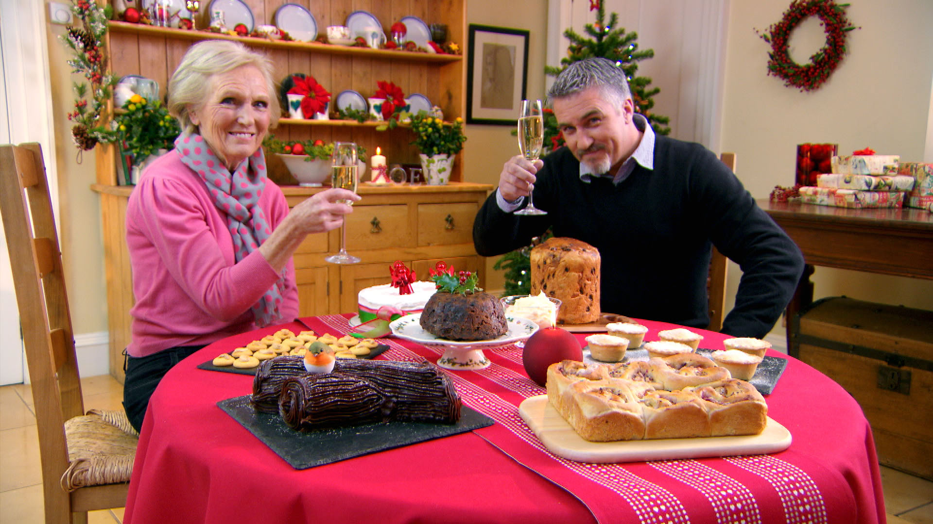"Join judges Mary Berry and Paul Hollywood for a masterclass that showcases festive favorites. ""The Great British Baking Show: Christmas Masterclass"" premieres 6 p.m. Sunday, Dec. 17 on WPT."