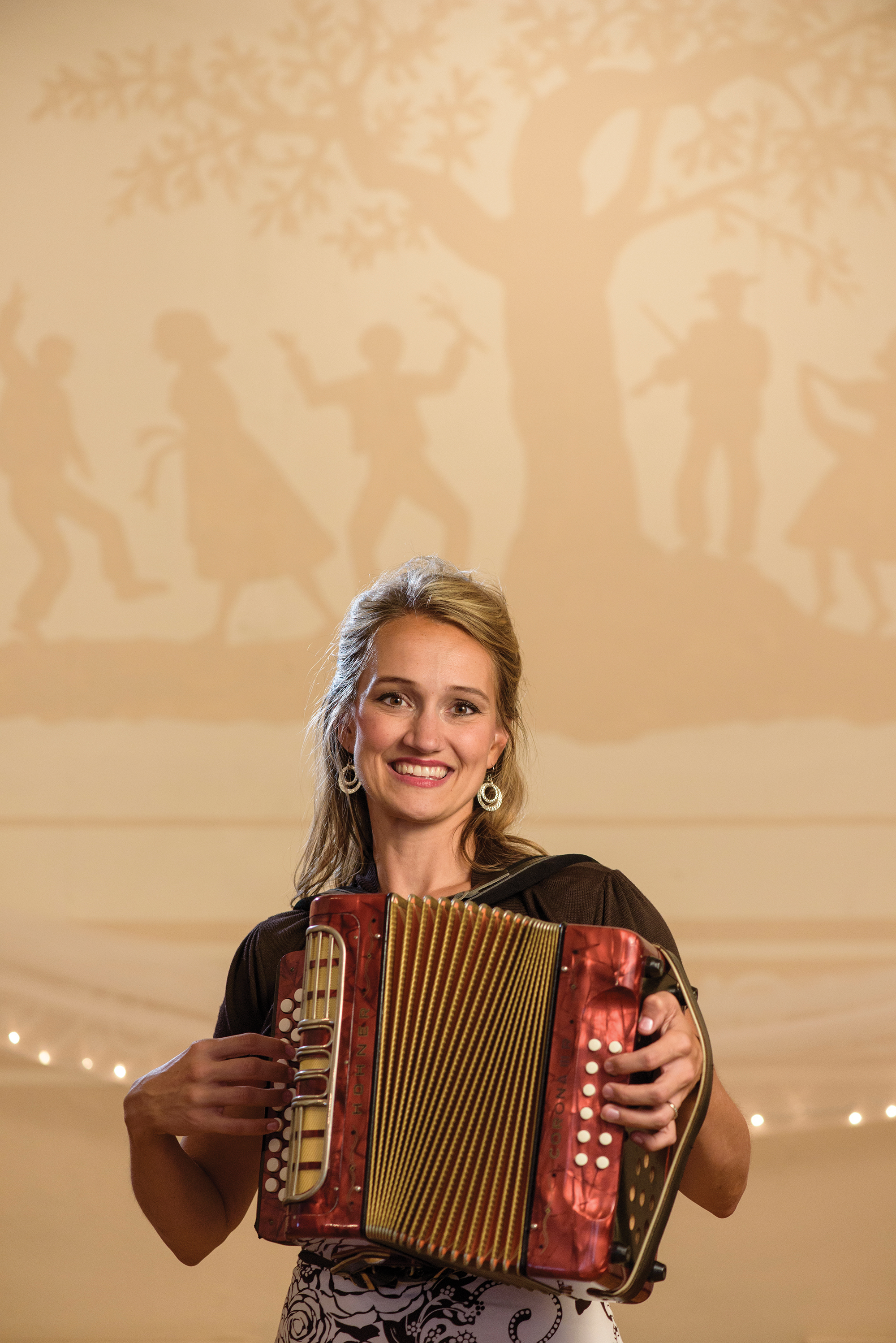 Polka! host Mollie B. poses with her squeezebox