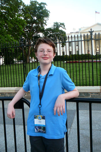 Image of Josh standing outside the White House