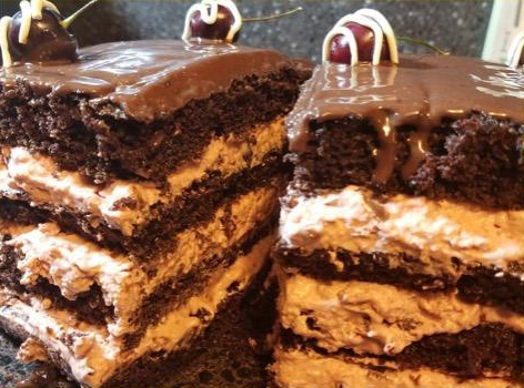 Madelyn's Chocolate Cherry Delight features four layers and lots of chocolate.