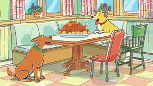 Image of Martha and a Turkey