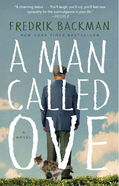 Cover of A Man Called Ove features an older man facing away from the viewer on a background of blue skies